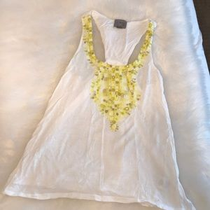 Anthropologie white racerback